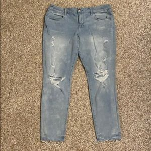 American Eagle Ripped Super Stretch Jeggings 16